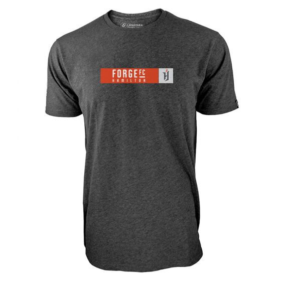 Men's Forge FC Box Logo Charcoal T-Shirt