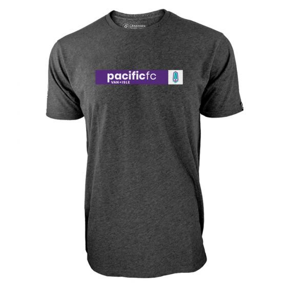 Men's Pacific FC Box Logo Charcoal T-Shirt