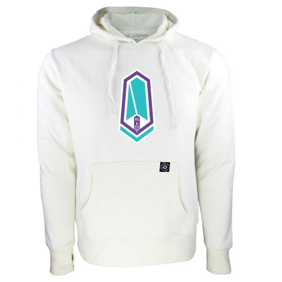 Women's Pacific FC Primary Logo White Hoody