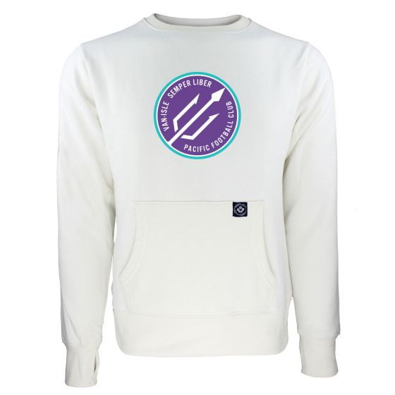 Women's Pacific FC Secondary Logo White Sweatshirt