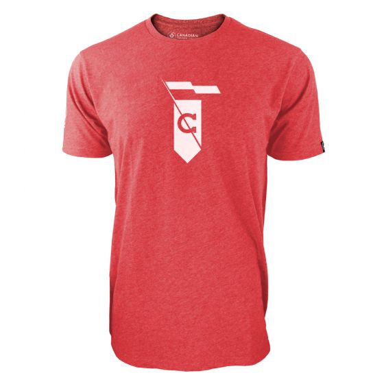 Men's Cavalry FC White Secondary Logo Red T-Shirt